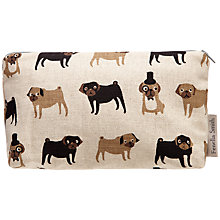 Buy Fenella Smith Pug Linen Make-up Bag, Small Online at johnlewis.com