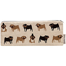 Buy Fenella Smith Pug Linen Brush Case Online at johnlewis.com