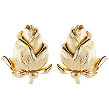 Buy Susan Caplan Vintage 1960s Trifari Rose Earrings, Gold Online at johnlewis.com