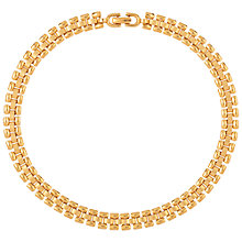 Buy Susan Caplan Vintage 1970s Vintage Monet Watchband Collar, Gold Online at johnlewis.com