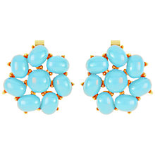 Buy Susan Caplan Vintage 1960s Trifari Faux Turquoise Earrings, Turquoise Online at johnlewis.com