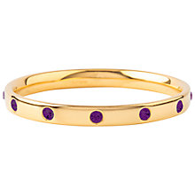 Buy Susan Caplan Vintage 1970s Monet Crystal Bangle, Gold/Violet Online at johnlewis.com