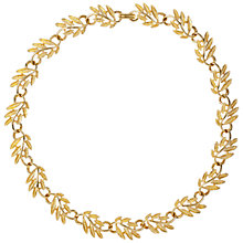 Buy Susan Caplan Vintage 1960s Napier Scrolling Leaf Necklace, Gold Online at johnlewis.com