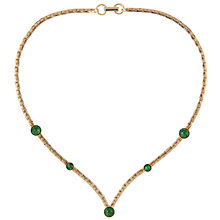 Buy Susan Caplan Vintage 1970s Sarah Coventry Faux Malachite Necklace, Gold/Green Online at johnlewis.com