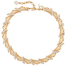 Buy Susan Caplan Vintage 1960s Trifari Deco Style Faux Pearl Necklace, Gold Online at johnlewis.com
