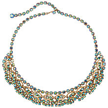 Buy Susan Caplan Vintage 1950s Alice Caviness Aurora Borealis Crystal Necklace, Gold Online at johnlewis.com