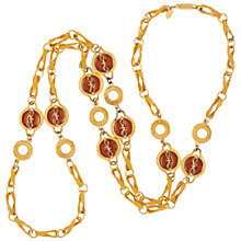 Buy Susan Caplan Vintage 1970s Vintage Lanvin Link Necklace, Gold/Amber Online at johnlewis.com