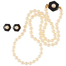 Buy Susan Caplan Vintage 1970s Hobé Faux Pearl Necklace and Earrings Set, White Online at johnlewis.com