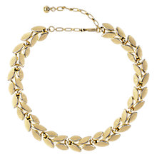 Buy Susan Caplan Vintage 1960s Trifari Brushed Laurel Necklace, Gold Online at johnlewis.com