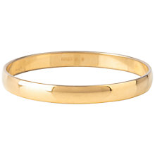 Buy Susan Caplan Vintage 1970s Vintage Monet Shiny Bangle, Gold Online at johnlewis.com