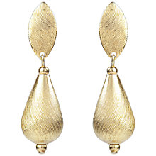 Buy Susan Caplan Vintage 1970s Sarah Coventry Bevelled Earrings, Gold Online at johnlewis.com