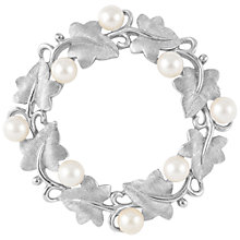 Buy Susan Caplan Vintage 1960s Trifari Faux Pearl Wreath Brooch, Silver Online at johnlewis.com