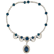Buy Susan Caplan Vintage 1950s Vintage Kramer Crystal Necklace, Blue Online at johnlewis.com