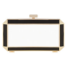 Buy Coast Deco Clutch Bag, Black/Gold Online at johnlewis.com