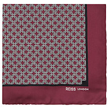 Buy Reiss Abyss Silk Chain Print Pocket Square Online at johnlewis.com