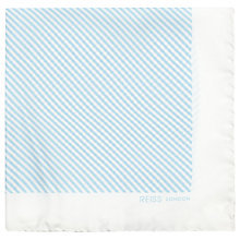 Buy Reiss Vidal Striped Silk Pocket Square, Soft Blue Online at johnlewis.com