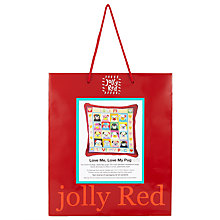 Buy Jolly Red Love Me, Love My Pug Needlecraft Kit Online at johnlewis.com