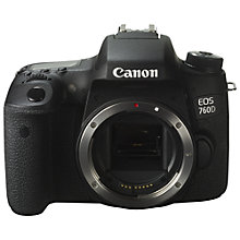 "Buy Canon EOS 760D Digital SLR Camera, HD 1080p, 24MP, NFC, Wi-Fi, 3"" LCD Screen, Body Only Online at johnlewis.com"
