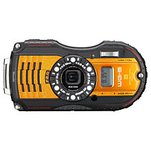 "Buy Ricoh WG-5 GPS Waterproof, Splashproof, Freezeproof, Crushproof Compact Digital Camera, Full HD 1080p, 16MP, 4x Optical Zoom, 3"" LCD Screen Online at johnlewis.com"