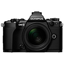 "Buy Olympus OM-D E-M5 Mark II Compact System Camera, 16MP, HD 1080p, Wi-Fi, 3"" Touchscreen LCD Vari-Angle Display with M.ZUIKO DIGITAL 12-50mm Lens Online at johnlewis.com"