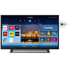 "Buy Toshiba 40D3553DB LED HD 1080p Smart TV/DVD Combi, 40"" with Freeview HD with Monster HDMI Cable Online at johnlewis.com"