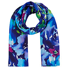 Buy Precis Petite Floral Print Silk Scarf, Multi Online at johnlewis.com