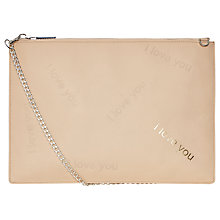 Buy Whistles I Love You Rivington Clutch Bag, Nude Online at johnlewis.com
