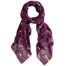 Buy Joules Wensley Dog Print Scarf, Blueberry Online at johnlewis.com