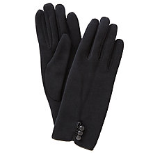 Buy John Lewis Jersey Button Gloves, One Size Online at johnlewis.com