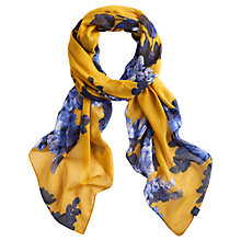 Buy Joules Wensley Scarf, Gold Floral Online at johnlewis.com
