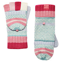 Buy Joules Orkney Gloves, Pink/ Multi Online at johnlewis.com