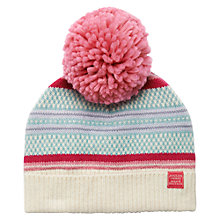 Buy Joules Orkney Bobble Hat, Pink/Multi Online at johnlewis.com
