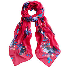 Buy Joules Wensley Floral Print Scarf, Fuchsia Online at johnlewis.com