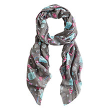 Buy Joules Wensley London Bus Scarf, Taupe/Multi Online at johnlewis.com