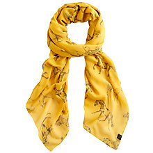 Buy Joules Wensley Horse Print Scarf, Gold Online at johnlewis.com