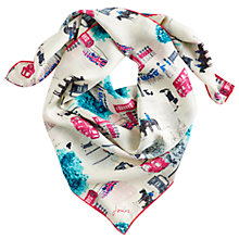 Buy Joules Women's Bloomfield Square Silk Scarf Online at johnlewis.com