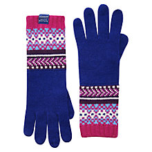 Buy Joules Orkney Gloves, Navy/ Multi Online at johnlewis.com