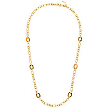 Buy Adele Marie Large Link Necklace, Gold Online at johnlewis.com