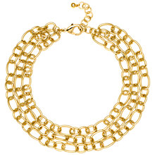 Buy Adele Marie 3 Row Large Link Necklace, Gold Online at johnlewis.com
