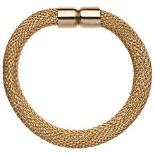 Buy John Lewis Plain Mesh Bracelet, Gold Online at johnlewis.com