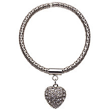 Buy John Lewis Paved Heart Bracelet, Silver Online at johnlewis.com