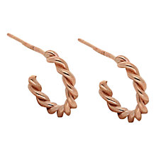 Buy London Road 9ct Rose Gold Twisted Rope Half Hoop Earrings Online at johnlewis.com