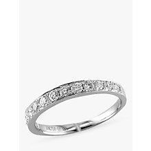 Buy EWA 18ct White Gold Diamond Half Eternity Ring, White Online at johnlewis.com