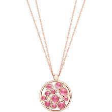 Buy London Road 9ct Gold Diamond Bubble Cluster Pendant, Rose Gold/Pink Tourmaline Online at johnlewis.com