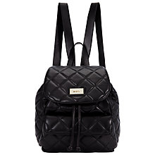 Buy DKNY Gansevoort Quilted Leather Backpack, Black Online at johnlewis.com