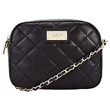 Buy DKNY Gansevoort Quilted Camera Chain Across Body Bag, Black Online at johnlewis.com