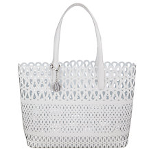 Buy DKNY Fashion Vachetta Leather Shopper Bag, White Online at johnlewis.com