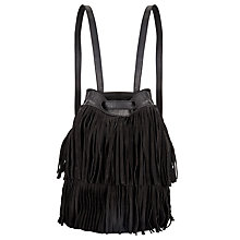 Buy Collection WEEKEND by John Lewis Sayen Fringe Leather Bucket Bag Online at johnlewis.com