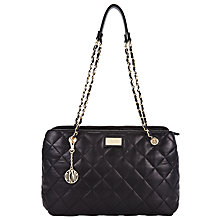 Buy DKNY Gansevoort Quilted Leather Shopper Chain Bag, Black Online at johnlewis.com