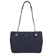 Buy DKNY Bryant Park Saffiano Leather Shopper Chain Bag Online at johnlewis.com